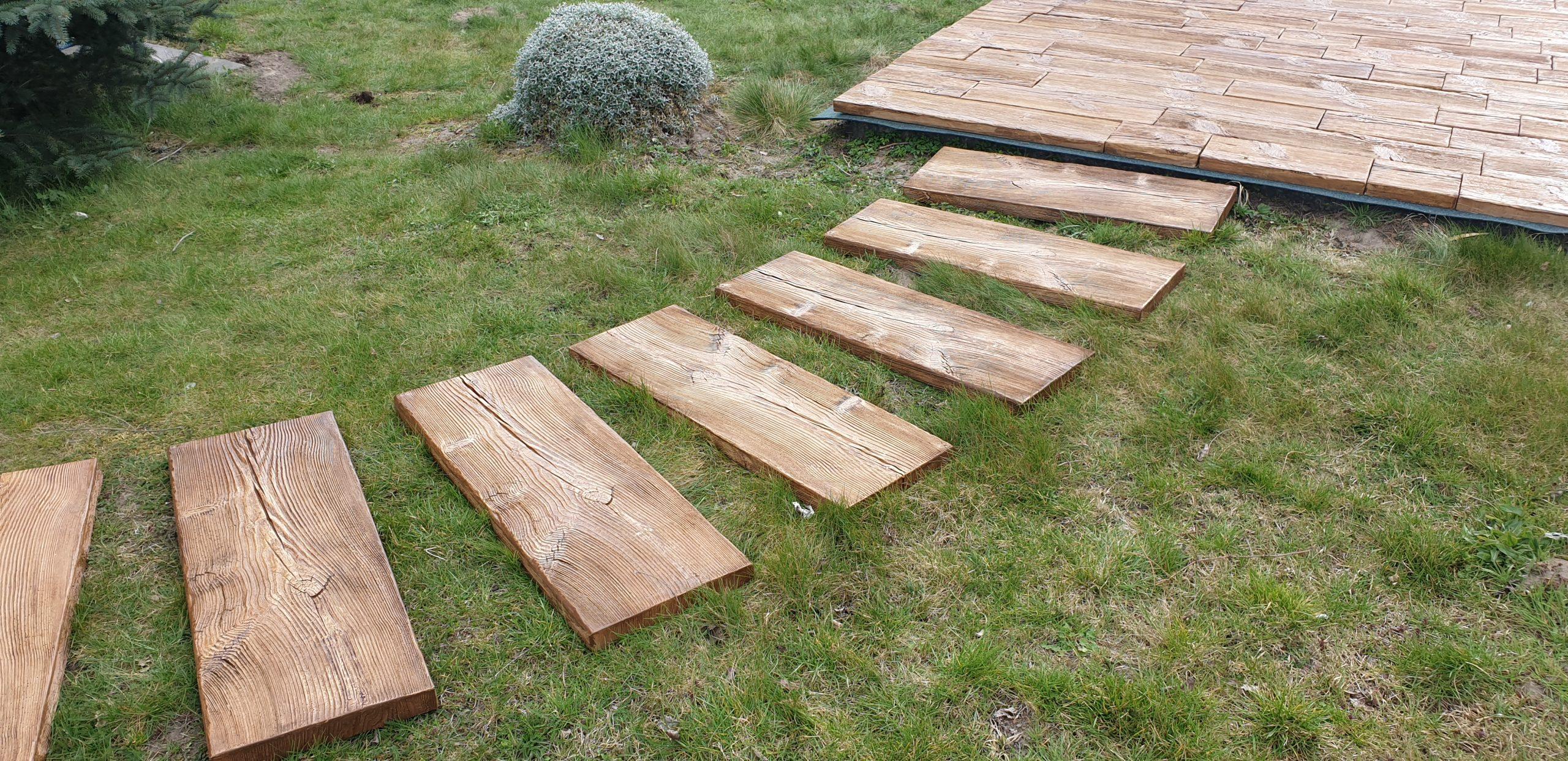betonowe drewno