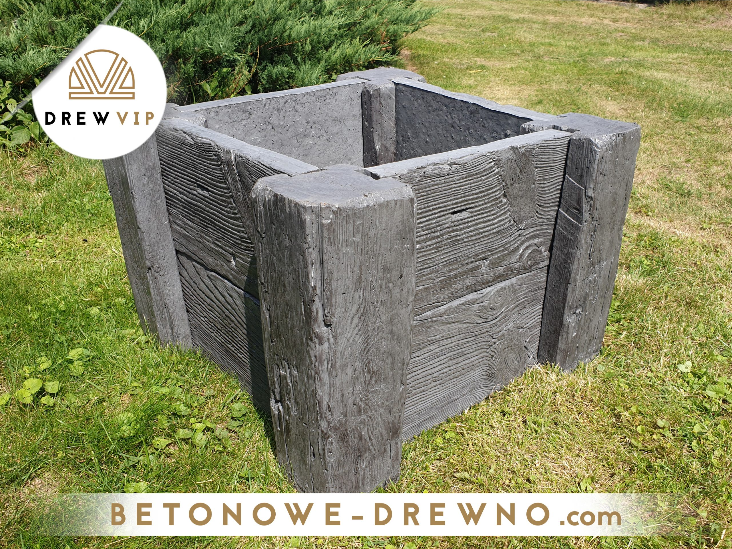 donice z drewna betonowego