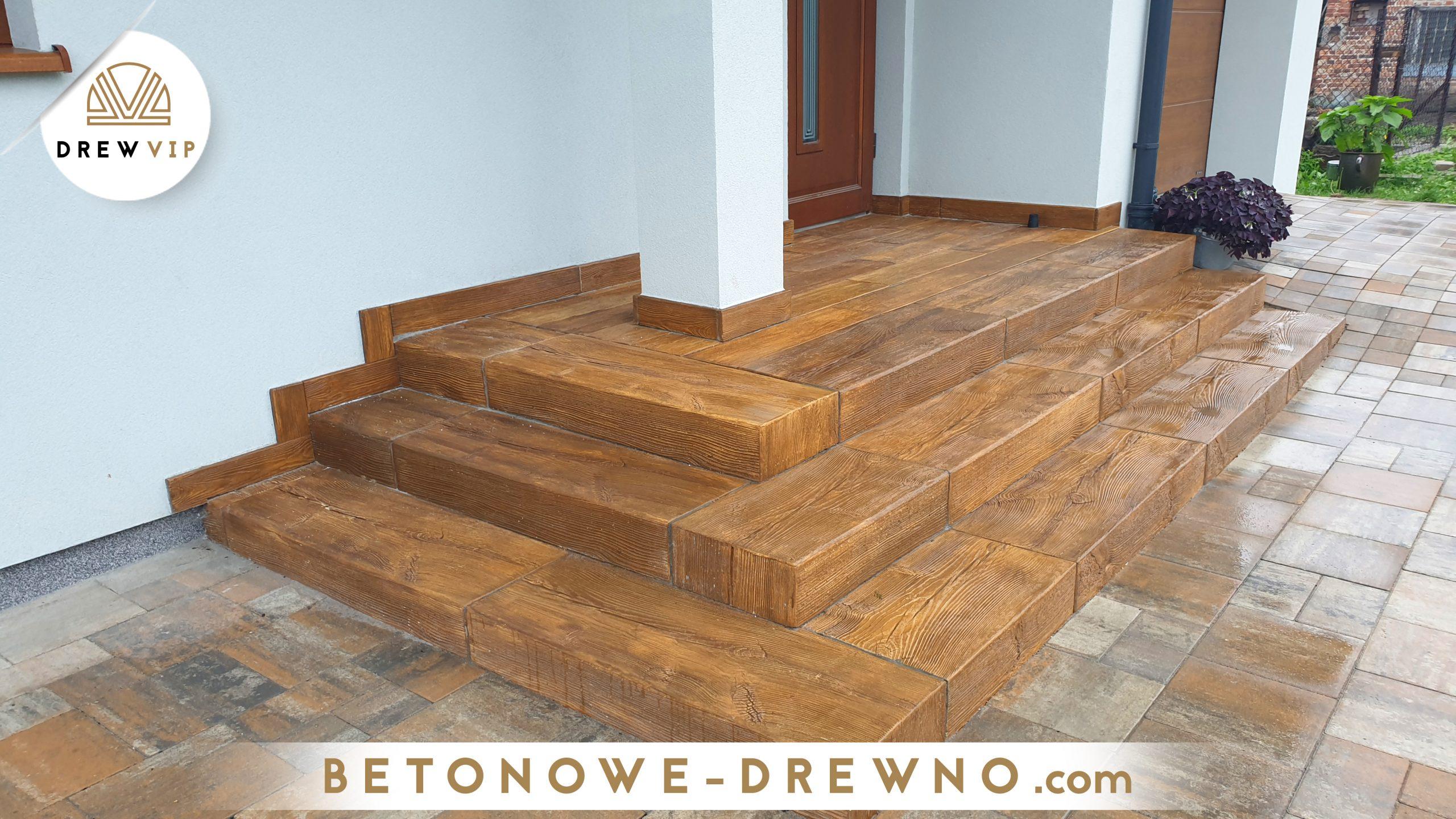 drewno betonowe rustykal